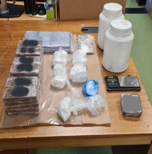 The drugs seized by Gardaí following the search of the house in Cork City. Photo: Gardai