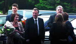 Date: 08/05/13  Photographer: Will Oliver  Pictured: John Cooper  Caption: John Cooper (centre) attends his brother, Peter Cooper's funeral in Bromley, South London.