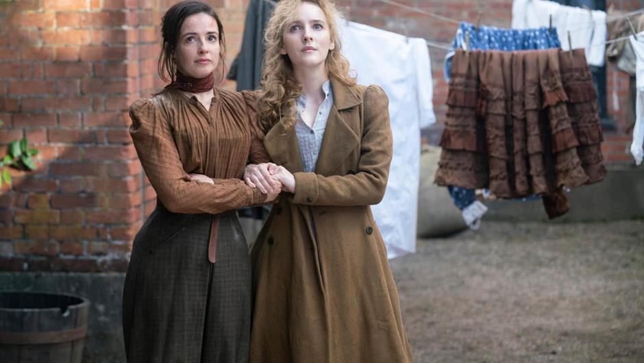 Laura Donnelly and Ann Skelly in The Nevers