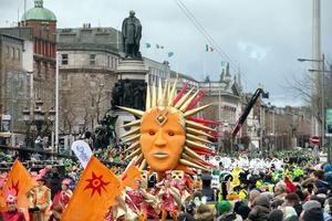 Green light: As it stands, the St Patrick's Day parade in Dublin will be going ahead.  Photo: Tony Gavin