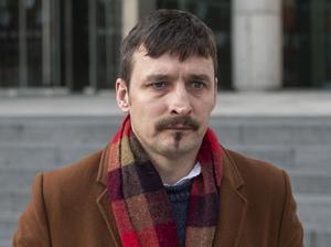 James Heffernan (40), of Main Street, Kilfinane, Co. Limerick, leaving court yesterday (FRI) after the hearing. Heffernan, a former Labour Party senator, was spared jail having pleaded guilty to two alcohol fuelled incidents. PIC: Collins Courts