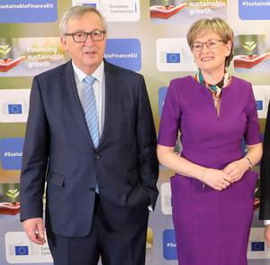 European Commission president Jean-Claude Juncker and vice-president of the European Parliament Mairead McGuinness