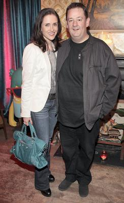 A-glow: Maia Dunphy who is having a baby with husband Johnny Vegas