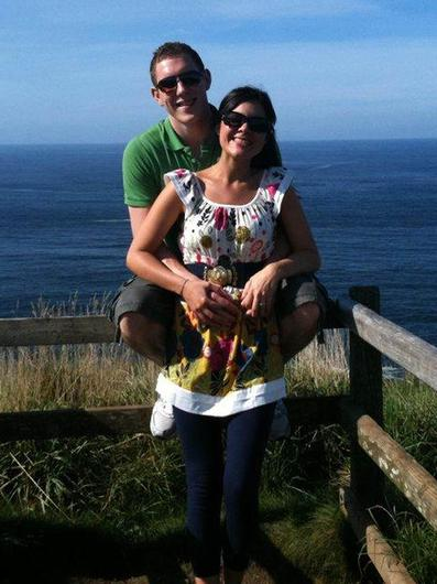 John and Michaela McAreavey at the Giant's Causeway in Co Antrim