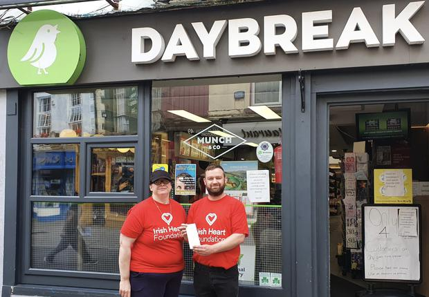 Laura Cody & Kieran Walsh from the Daybreak Store in Wexford Town celebrate after one of their customers wins €116,054 in Friday night's EuroMillions draw.