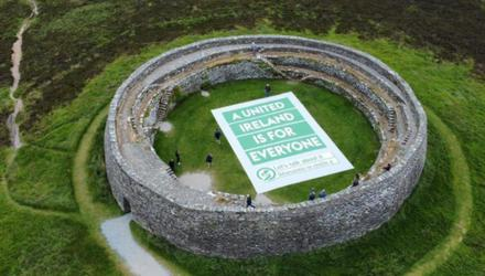Campaign: A still from the Sinn Féin video made at the OPW-managed ring fort