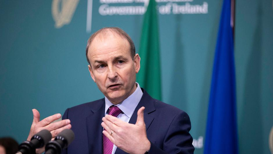 "Taioseach Micheál Martin called on the public to show ""steely determination and resolve"". Photo: Julien Behal/PA Wire"