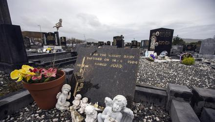 The grave in Cahersiveen, Co Kerry of Baby John, whose killer is unknown. Photo: Mark Condren