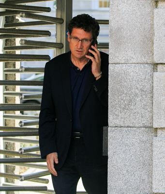 BIG CALL TO MAKE: Green Party leader Eamon Ryan TD at Leinster House last Thursday. Photo: Gareth Chaney/Collins