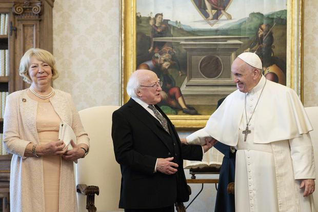 Visit to Rome and the Holy See by The President Michael D Higgins and Sabina Higgins. PIC:MAXWELLS/VATICAN