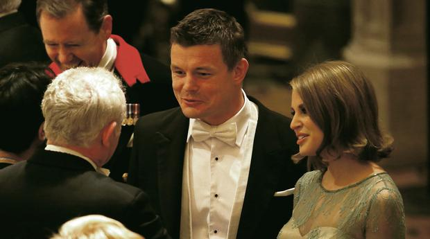 Brian O'Driscoll and Amy Huberman were among the guests at the banquet