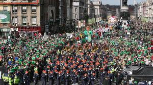 Thousands gather in Dublin city centre for the 2017 St Patrick's Day Parade