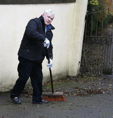John Gilligan at work close to the equestrian centre that has been seized by CAB.