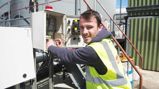Darren Harte (21) has been taken on as an apprentice electrician in his home county of Roscommon
