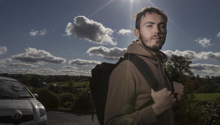 Maynooth University student Jamie McMahon spends four hours on the road every day. Photo: David Conachy
