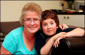 Jennifer Cullinan with her son Rory (8) who has Autism at their home in Rathcoole, Dublin