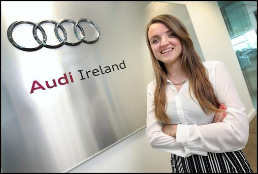 Hannah Dobson who is working her internship year with Audi Photo: Steve Humphreys