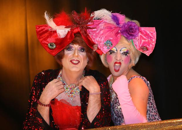 Ugly sisters Barby (Rory Cowan) and Buffy (Rob Murphy) , who are appeared in CInderella at the Tivoli Theatre
