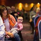 Kate McHugh and her daughter Clionadh from Carlow at the TUI's annual congress. Photo: Mark Condren