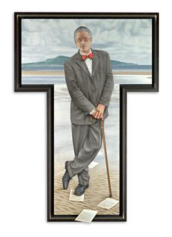 Robert Ballagh portrait of James Joyce (2011), UCD Collection.