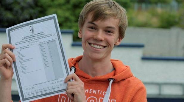 David Glynn who got 9 A1's in his leaving Cert in Castlebar, Co. Mayo
