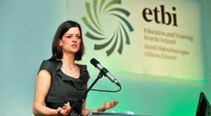 Dr Orla McCormack, lecturer in education at University of Limerick, speaking at the ETBI annual conference in Galway