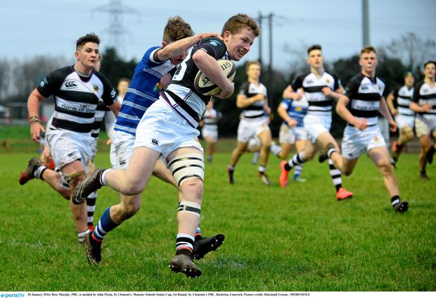 445e7cdcaa6 School league tables: Country's top schools get perfect results. PBC boys  in action against St Clement's in the Munster Schools Senior Cup 1st Round  last
