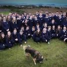 Some of this year's Leaving Certificate class from Pobalscoil Ghaoth Dobhair, Co Donegal. Photo: Brian McDaid