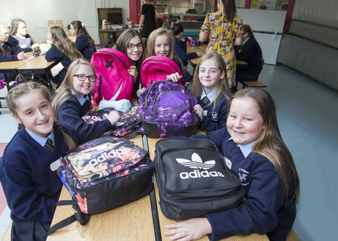 First-year students of St Dominic's College (from left) Jodie Devine, Abbie Corish, Caitlin Tobin, Lucy Brennan, Jody Balfe and Erin Murray. PICTURE: COLIN O'RIORDAN