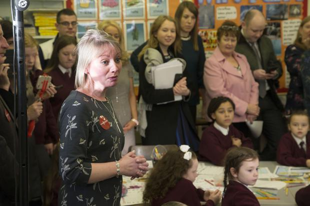 Rosaleen Molloy, national director of Music Generation, speaking at the launch yesterday