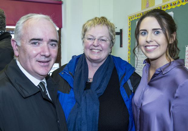 Pictured at the launch of the Creative Ireland Programme - Creative Youth Plan at St Laurence O'Toole's GNS were; Thomas Usher, Máire O'Higgins and Emma O'Reilly, Larkin Community College. Photo: Colin O'Riordan