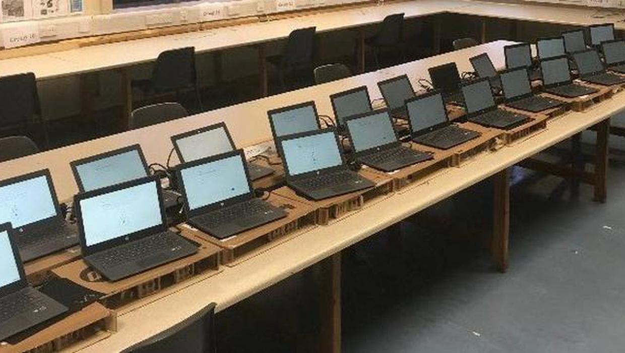 60 laptops donated to inner-city Dublin school so disadvantaged students can attend classes remotely