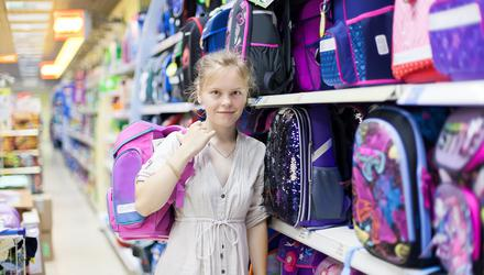 Weigh up the options: Choose a school bag that will reduce the risk of neck and back pain. PHOTO POSED BY MODEL.
