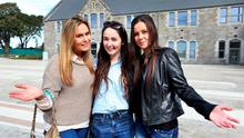 Students Tara Bolger from Athy Kildare, Remy English from Athy Kildare and Manuela Mentel from Edenderry Offaly at the new DIT Grangegorman campus. Photo Steve Humphreys