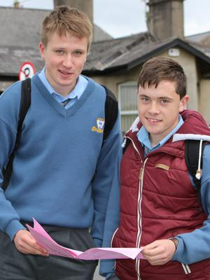 Limerick Leaving Certificate students Kieran Ronan, Ballyneety and Brian Slattery, Prospect; both students at St. Clement's College who completed the English paper 2