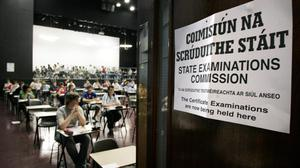 Students sitting the Leaving Cert (Stock image)