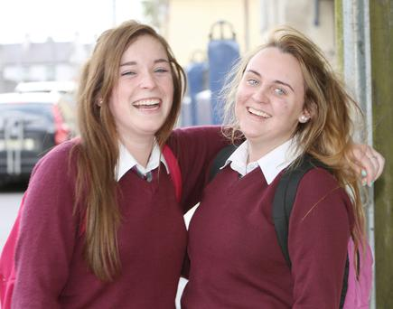 Limerick Leaving Certificate students Chloe Ring Carey, Castletroy View; and her cousin Casey Carey, Rhabogue; both students at FCJ Laurel Hill who sat the English paper 2