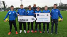 Students of the GTI elite soccer course looking forward to their Erasmus+ placement to Glasgow