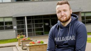 Bryan Drury, outside Sligo College of Further Education, Ballinode, Sligo. Photo: James Connolly