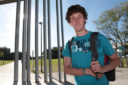Go with your best instinct: Cathal Breathnach of NUIG. Photo: Aengus McMahon.