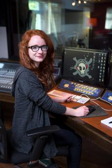 Michelle McCamley on work placement at Mutiny recording studios in Dublin.