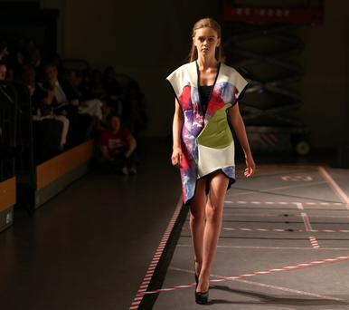 One of Cathy McEvoy's designs at the Griffith College first year showcase 2015