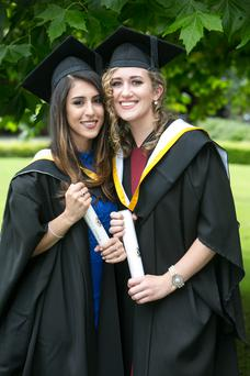 Malina Rafique, Limerick Graduation with a Bachelor of Architecture and Claire Normoyle, Newmarket on Fergus, Co Clare who graduated with a Bachelor in Law at the University of Limerick