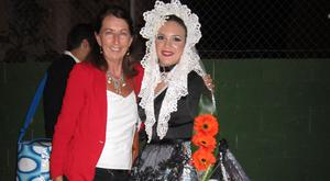 Mary Burton-Quinn (left) enjoyng a fiesta in Alicante