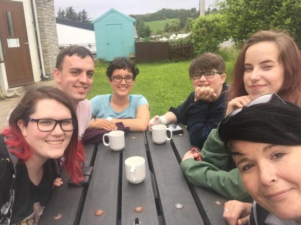 Taking a breather at Errigal Youth Hostel during the Erasmus+ link-up between LGBT groups from Donegal and Finland