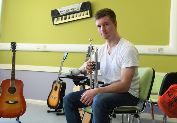 Paul Sheerin is studying music at Kerry College of Further Education. Photo: Domnick Walsh, Eye Focus