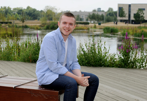 Politics and Economics student Jason McKillen pictured at UCD. Photo: Caroline Quinn
