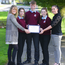 Niamh O'Meara, University of Limerick lecturer, with students Megan Hough, Adam Magill, Maria Horan and teacher Celine Finn at the launch of Career Mathways at St Brendan's Community School, Birr. PHOTO: DAMIEN EAGERS
