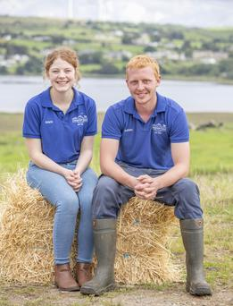 Grace Vaughan with her brother Ashley at Campview Farm, Ballyshannon, Co Donegal Photo: north west newspix