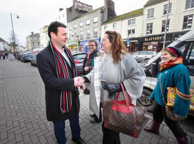 Minister of Environment, Community & Local Government Alan Kelly meets locals in Nenagh, Co. Tipperary last Friday.